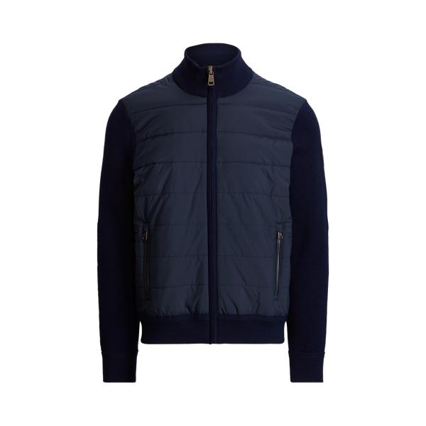 폴로 랄프로렌 맨 하이브리드 집업 스웨터 Polo Ralph Lauren Hybrid Full Zip Sweater,Piper Navy/College Navy