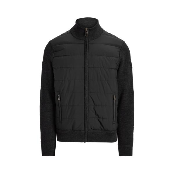 폴로 랄프로렌 맨 하이브리드 집업 스웨터 Polo Ralph Lauren Hybrid Full Zip Sweater,Dark Charcoal Htr/Polo Bl