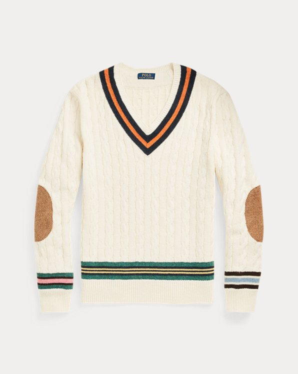 Cotton-Cashmere Cricket Jumper