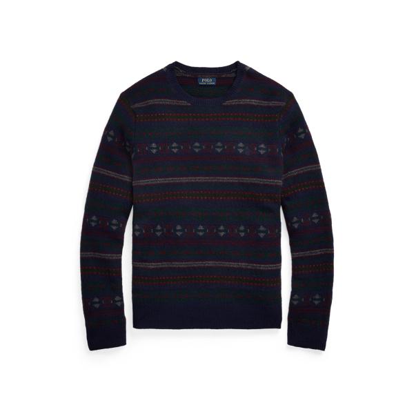 폴로 랄프로렌 맨 페어아일 울 캐시미어 스웨터 Polo Ralph Lauren Fair Isle Wool Cashmere Sweater,Navy Fairisle