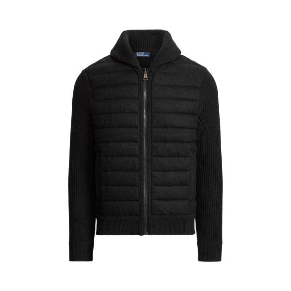 폴로 랄프로렌 맨 울 캐시미어 집업 스웨터 Polo Ralph Lauren Wool Cashmere Full Zip Sweater,Onyx