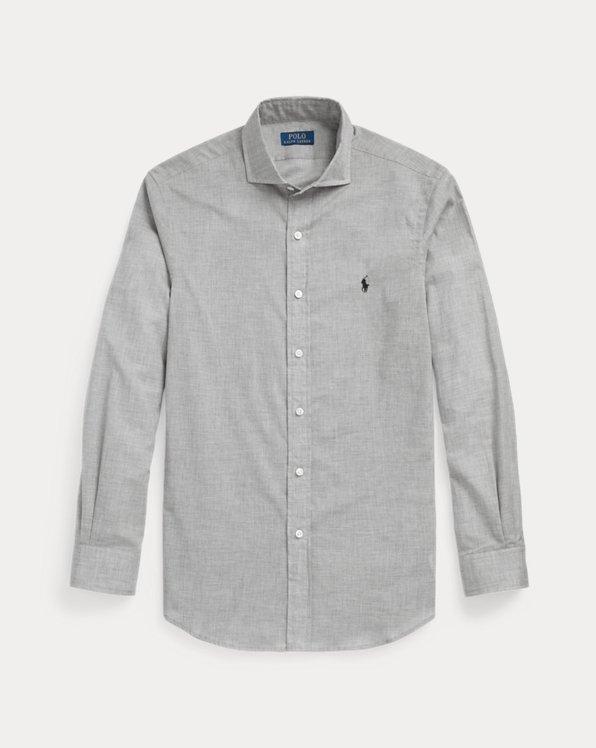 Custom Fit Heathered Poplin Shirt