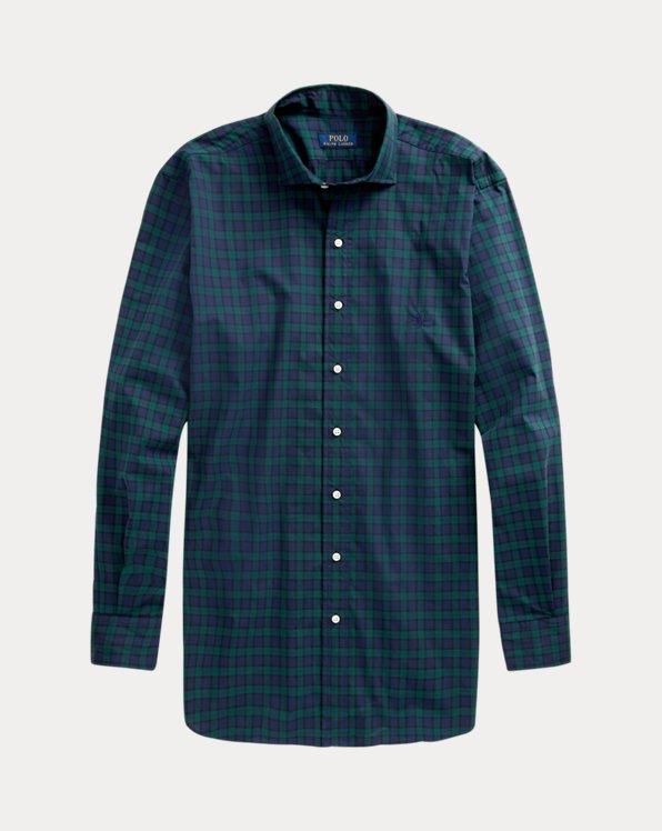 Plaid Natural Stretch Poplin Shirt