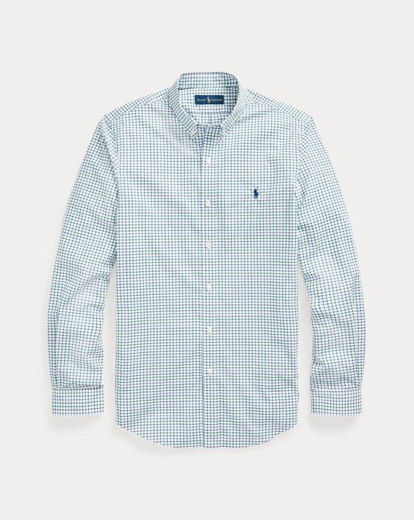 Camicia in popeline scozzese Custom-Fit