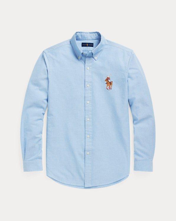Custom Fit Polo Bear Oxford Shirt