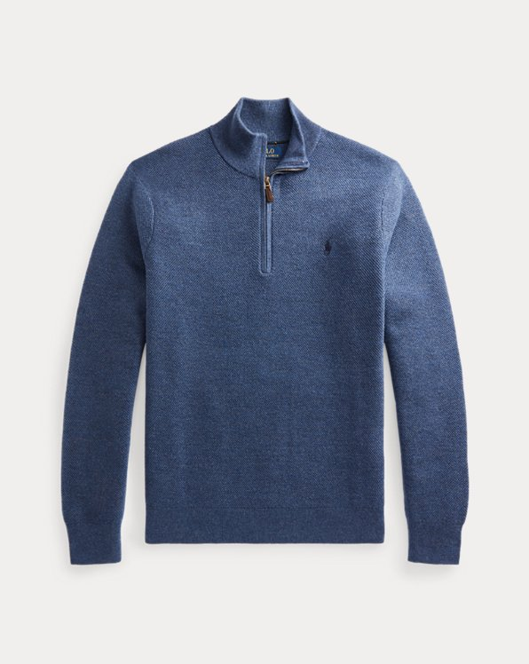 Washable Wool Quarter-Zip Sweater
