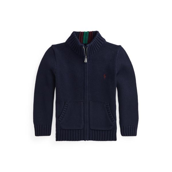 폴로 랄프로렌 Polo Ralph Lauren Cotton Full Zip Sweater,RL Navy Multi
