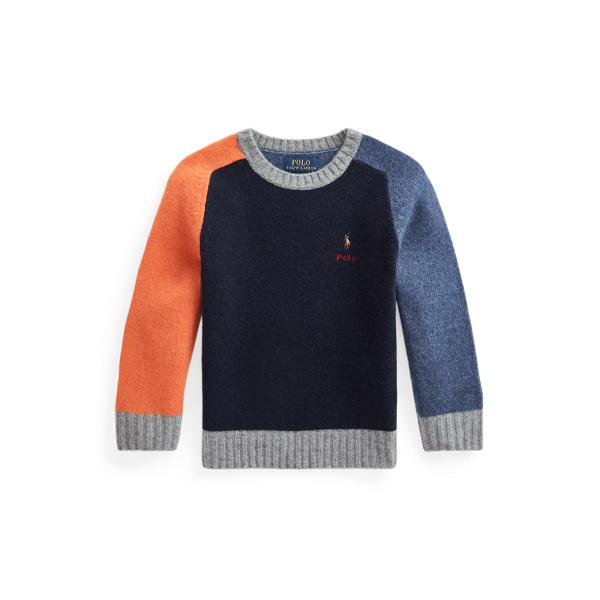 폴로 랄프로렌 Polo Ralph Lauren Color Blocked Wool Cashmere Sweater,Multi