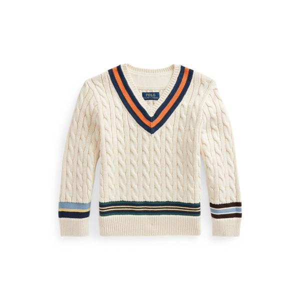 Polo Ralph Lauren Kids' Cotton Cricket Sweater In Cream
