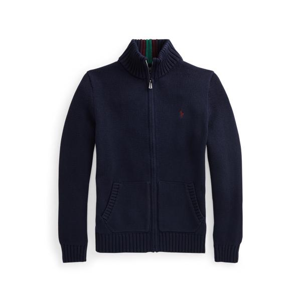 폴로 랄프로렌 보이즈 집업 스웨터 Polo Ralph Lauren Cotton Full Zip Sweater,RL Navy Multi