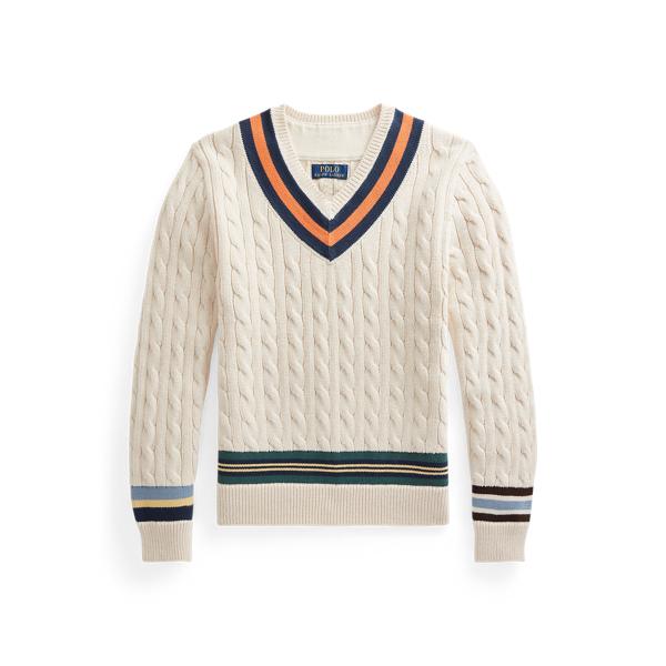 폴로 랄프로렌 보이즈 크리켓 스웨터 Polo Ralph Lauren Cotton Cricket Sweater,Cream