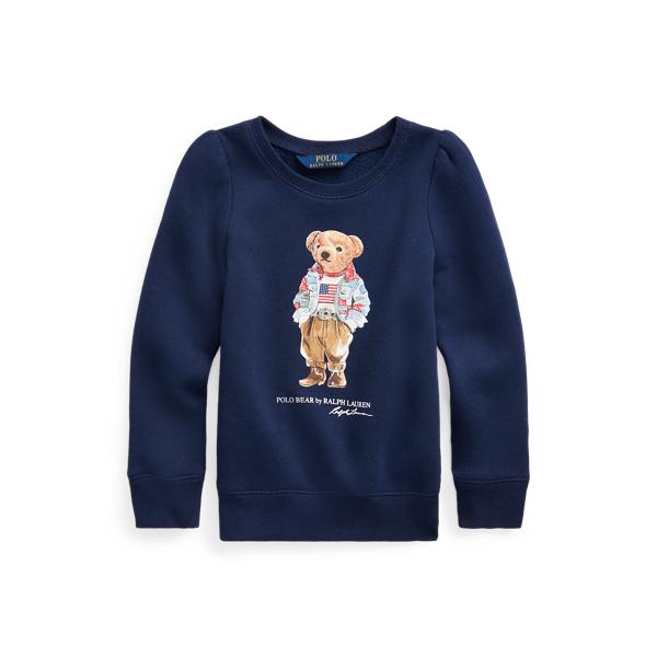 Polo Ralph Lauren Kids' Polo Bear Fleece Sweatshirt In Blue