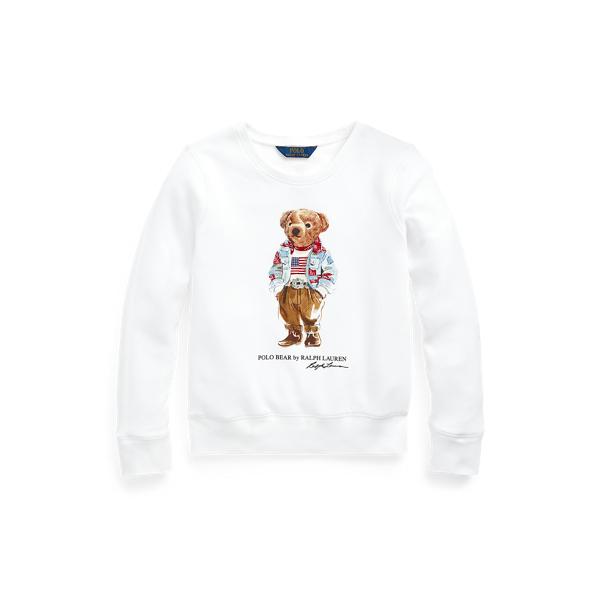 Polo Ralph Lauren Kids' Polo Bear Fleece Sweatshirt In White