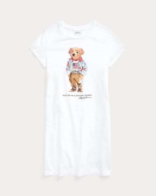 Polo Bear Cotton Jersey Tee Dress