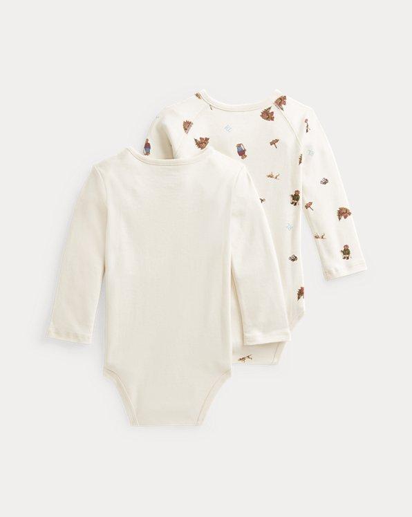 Polo Bear Cotton Bodysuit 2-Pack