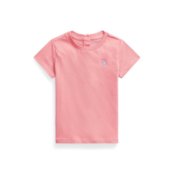 Ralph Lauren Babies' Cotton Jersey Crewneck Tee In Pink