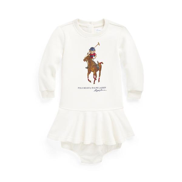 Ralph Lauren Babies' Polo Bear Dress & Bloomer In Nevis