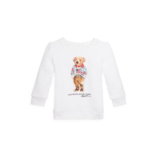 Ralph Lauren Babies' Polo Bear Fleece Sweatshirt In White