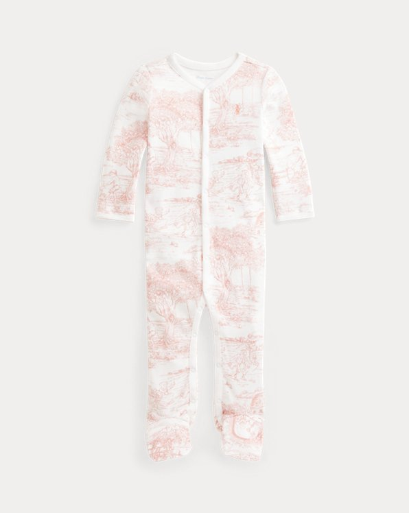 Toile-Print Interlock Footed Coverall