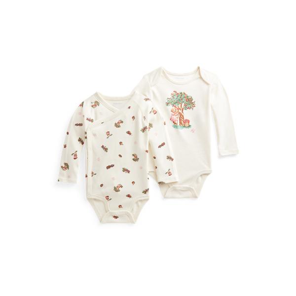 폴로 랄프로렌 베이비 아기옷 우주복  Polo Ralph Lauren Polo Bear 2 Piece Bodysuit Set,Baby Girl Bear Print