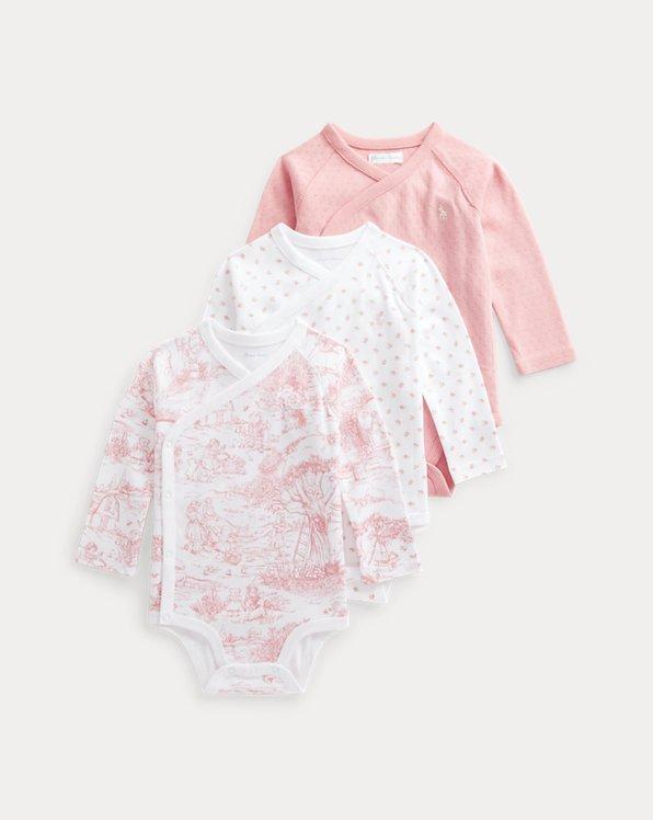 Tre body per neonato in cotone