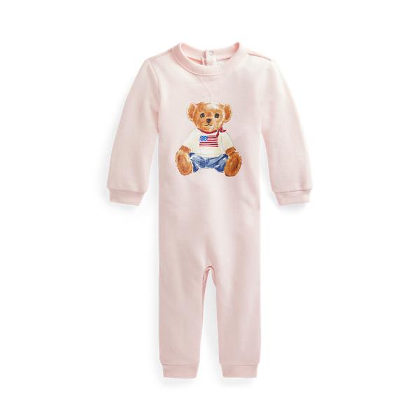 폴로 랄프로렌 베이비 아기옷 우주복  Polo Ralph Lauren Polo Bear Fleece Coverall,Delicate Pink