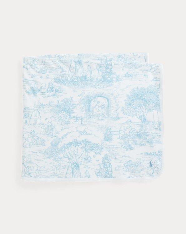 Toile-Print Cotton Blanket