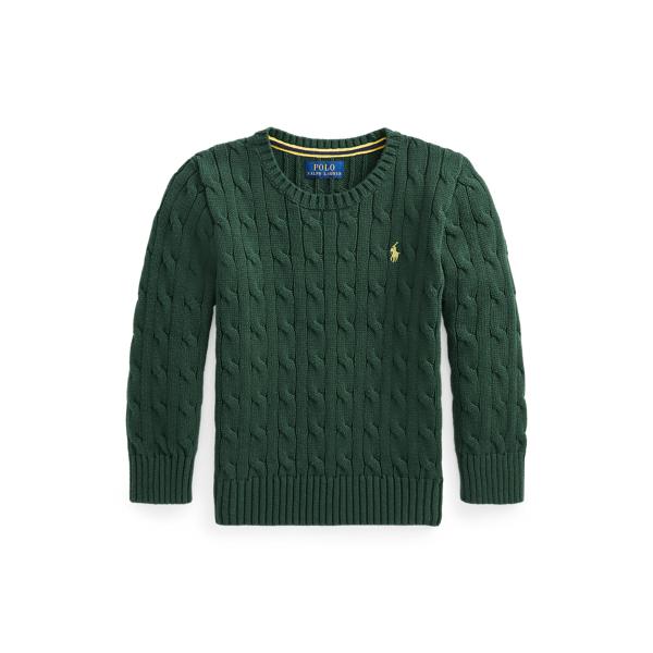 폴로 랄프로렌 Polo Ralph Lauren Cable Knit Cotton Sweater,College Green