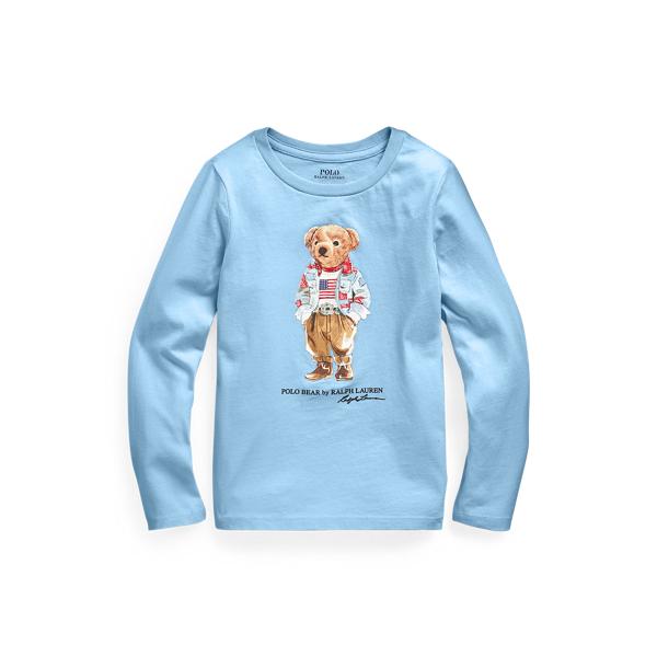 Polo Ralph Lauren Kids' Polo Bear Cotton Jersey Tee In Blue