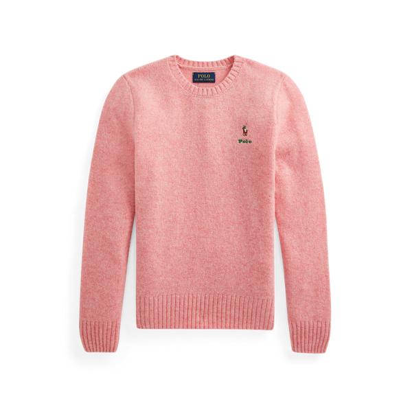 폴로 랄프로렌 걸즈 울 캐시미어 스웨터 Polo Ralph Lauren Wool Cashmere Sweater,Desert Rose