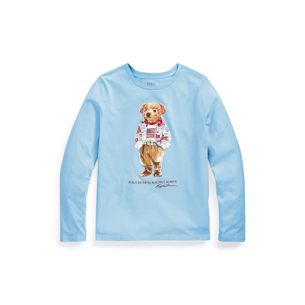 Polo Ralph Lauren Kids' Polo Bear Cotton Jersey Tee In Sky Blue