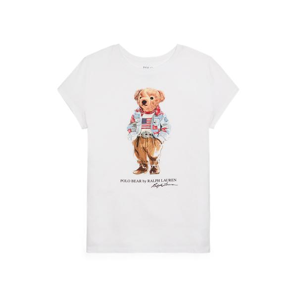 Polo Ralph Lauren Kids' Polo Bear Cotton Jersey Tee In White