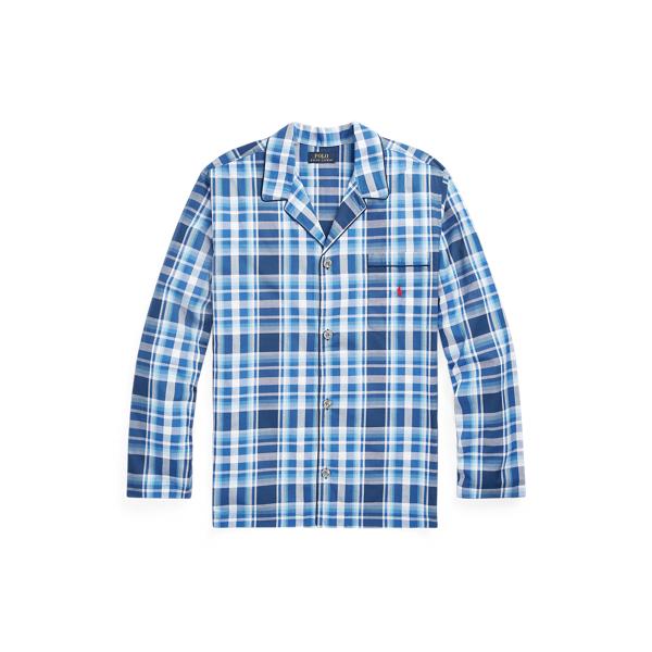 Ralph Lauren Plaid Pajama Shirt In Monroe Plaid