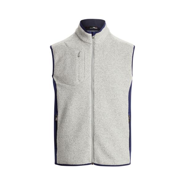폴로 랄프로렌 남성 골프웨어 Polo Ralph Lauren Terry Paneled Fleece Vest,Light Grey Heather
