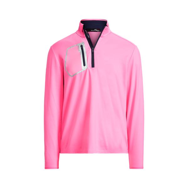 폴로 랄프로렌 남성 골프웨어 Polo Ralph Lauren Performance Quarter Zip Pullover,Neon Pink