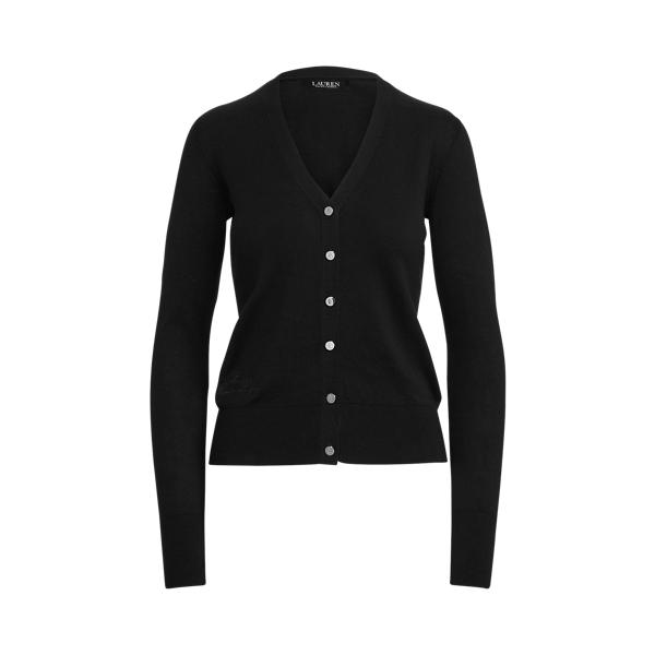 로렌 랄프로렌 가디건 스웨터 Lauren Cotton Blend Cardigan Sweater,Polo Black