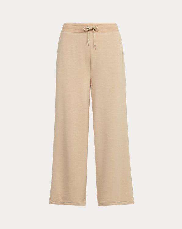 Cropped Wide-Leg Sweatpant