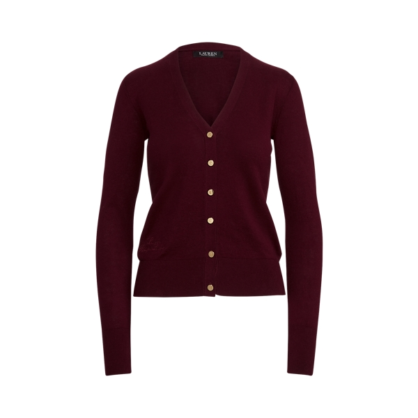 로렌 랄프로렌 가디건 스웨터 Lauren Cotton Blend Cardigan Sweater,Pinot Noir