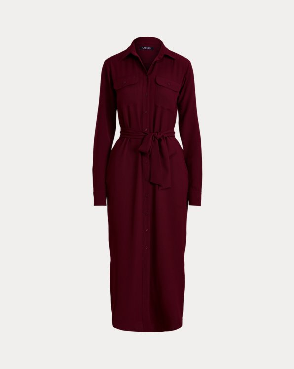 Double-Faced Georgette Shirtdress
