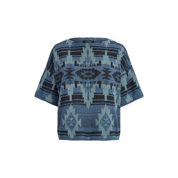 로렌 랄프로렌 사우스웨스턴 모티브 반팔 스웨터 Lauren Southwestern Motif Elbow Sleeve Sweater,Multi