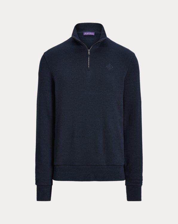 Monogram Fleece Quarter-Zip Sweatshirt