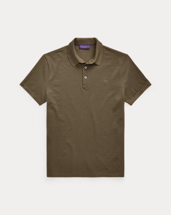 Wool Piqué Polo Shirt