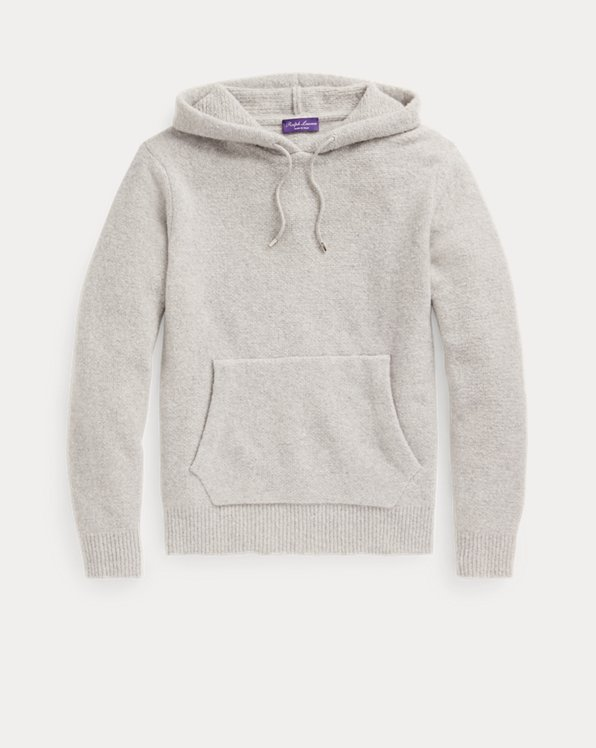 Cashmere-Blend Hooded Sweater
