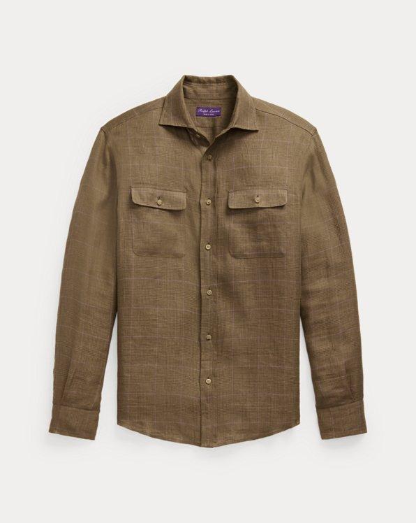 Checked Linen Twill Workshirt