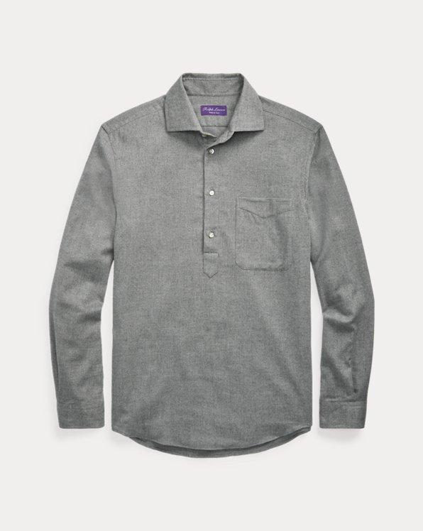 Herringbone Flannel Popover Shirt