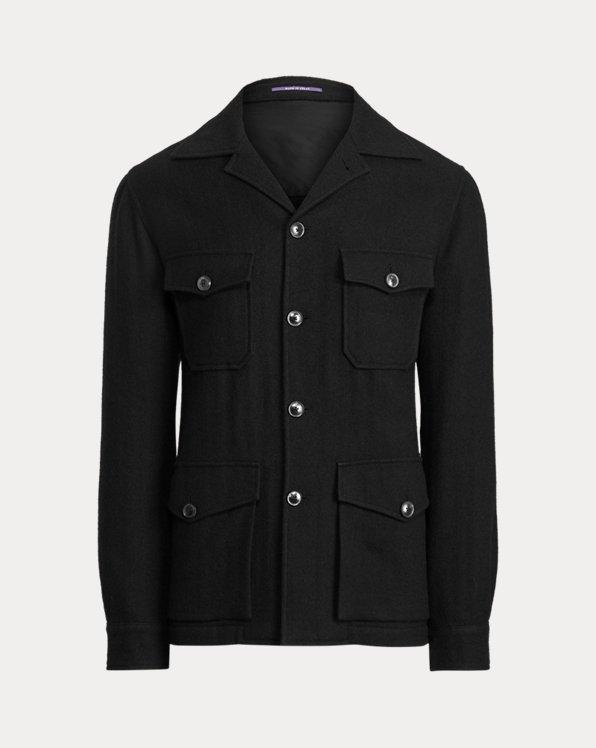 Wool-Linen Herringbone Jacket