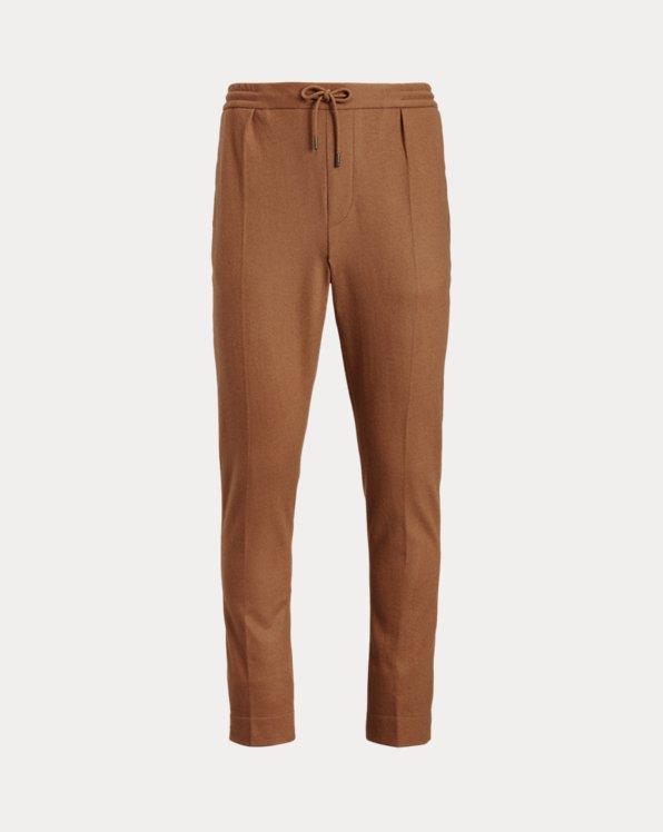 Wool-Blend Jersey Suit Trouser