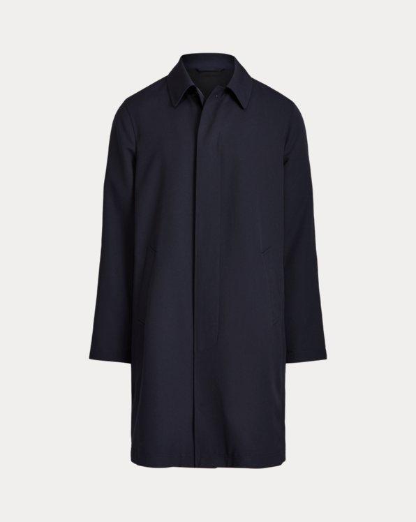 Packable Water-Repellent Balmacaan Coat