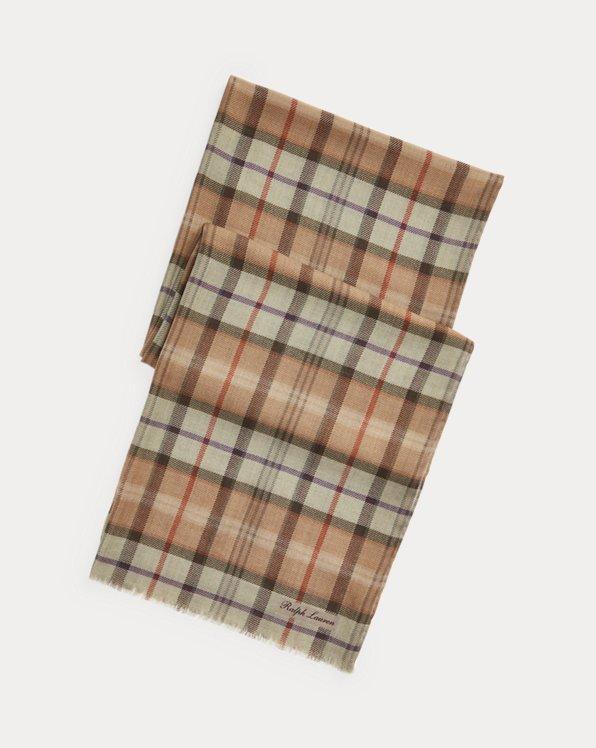 Glen Plaid Wool Scarf