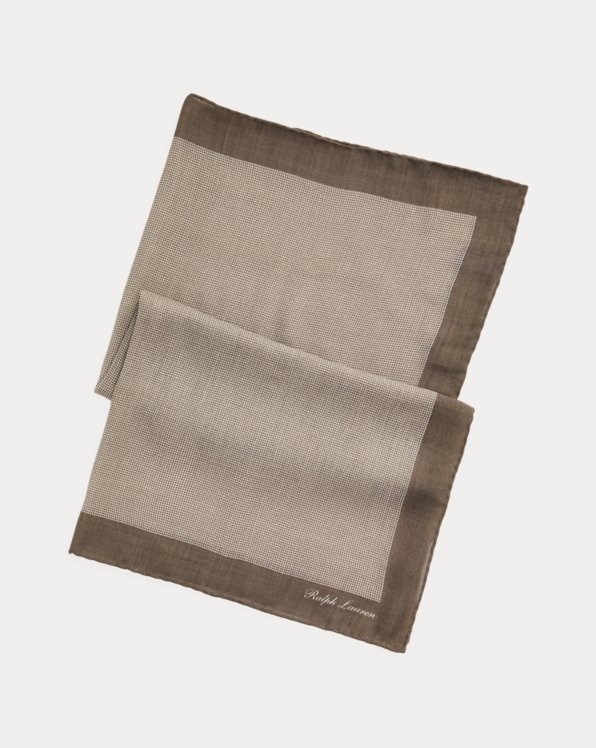 Geometric Wool Scarf
